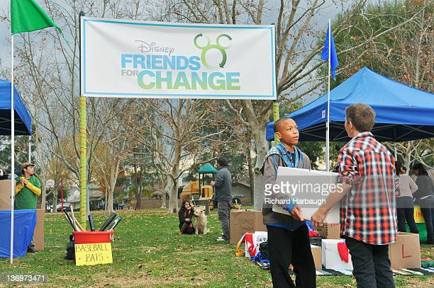 S FRIENDS FOR CHANGE Roshon Fegan and Caroline Sunshine stars of the hit Disney Channel series Shake It Up will help spread the word about Disney...