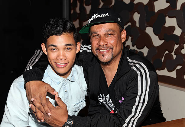 Roshon fegan fan meet and greet photos and images getty images roshon fegan and his father roy fegan attend a fan meet and greet at earl of m4hsunfo Image collections