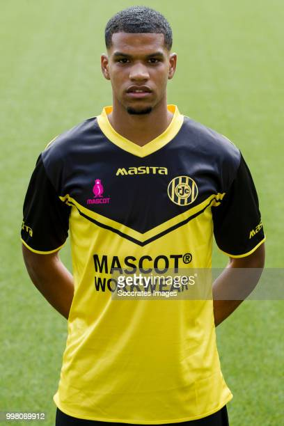 Roshon van Eijma of Roda JC during the Photocall Roda JC at the Parkstad Limburg Stadium on July 12 2018 in Kerkrade Netherlands