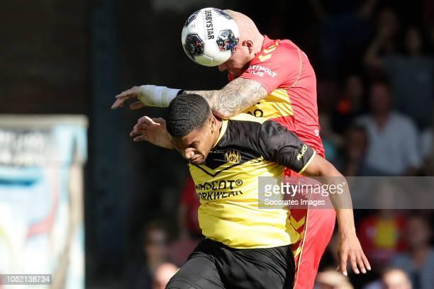 Roshon van Eijma of Roda JC Thomas Verheydt of Go Ahead Eagles during the Dutch Keuken Kampioen Divisie match between Go Ahead Eagles v Roda JC at...