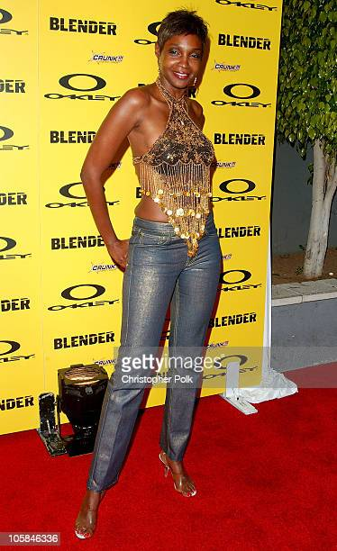 Roshumba during Blender/Oakley X Games Party - Arrivals at The Key Club in Los Angeles, California, United States.