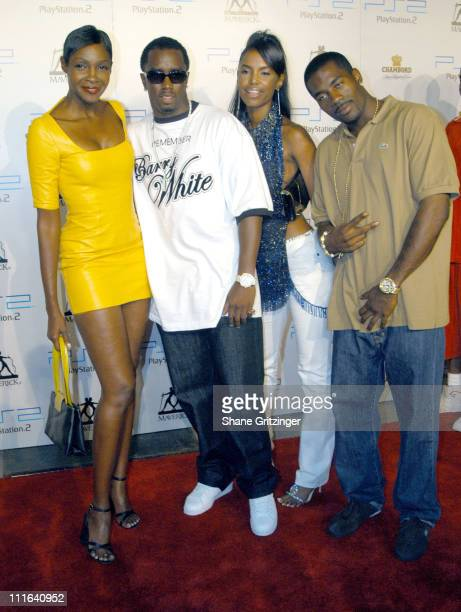 Roshumba Williams Sean PDiddy Combs Kim Porter and Loon