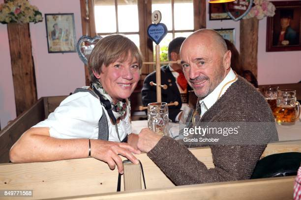 Rosi 'Goldrosi' Mittermaier and her husband Christian Neureuther during the 'BMW Wies'n SportStammtisch' as part of the Oktoberfest at Theresienwiese...