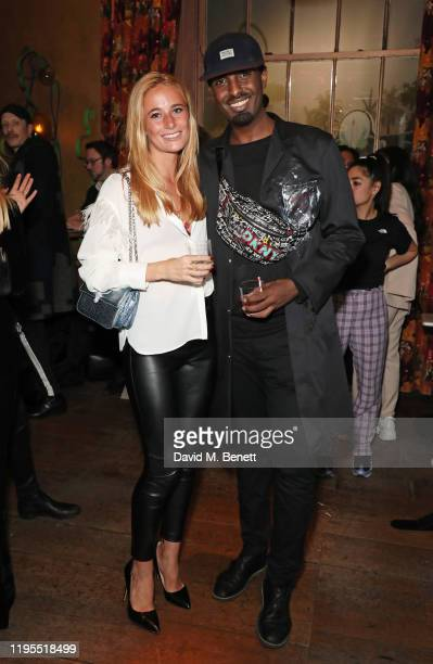 Rosi May and Mason Smillie attend the launch of Muse by Coco De Mer at Sketch on January 23 2020 in London England