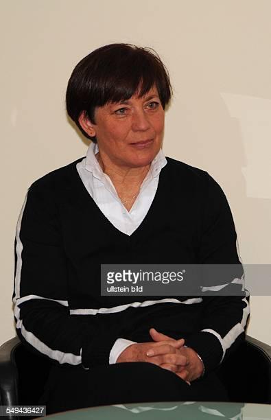 Rosi Mittermaier ehemalige Skirennläuferin Foto Pressekonferenz K2 auf der Ispo SportFachmesse in München