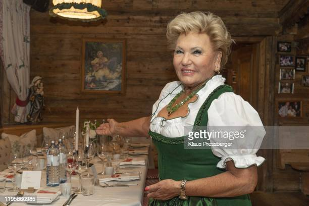 Rosi Schipflinger during the Celebrities At Hahnenkamm Race Weekend on the A1 Kitz Night 2020 January 24 2020 in Kitzbuehel Austria