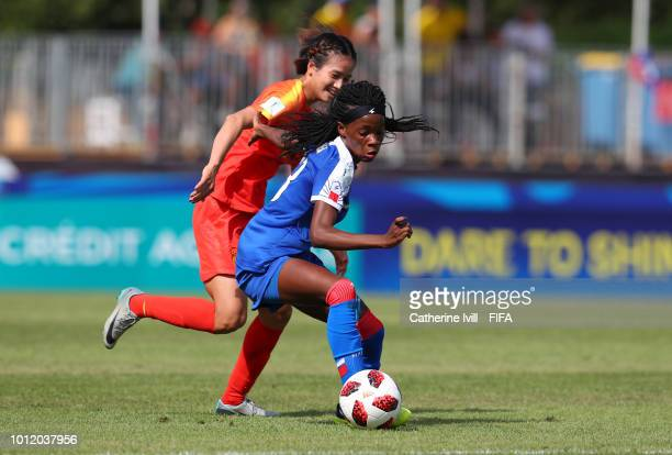 Peter Bonde manager / head coach of China during the FIFA U20 Women's World Cup France 2018 group D match between Haiti and China PR at on August 6...