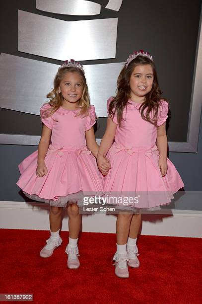 Rosie and Sophia Grace attend the 55th Annual GRAMMY Awards at STAPLES Center on February 10 2013 in Los Angeles California