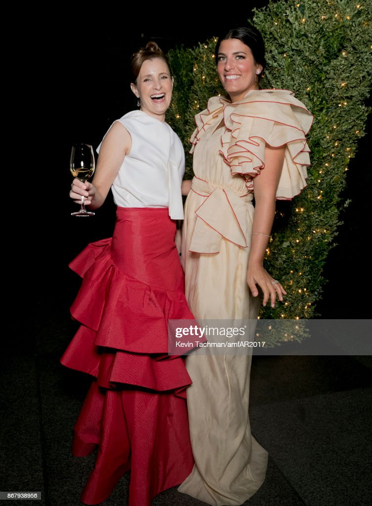 Rosie Assoulin (R) at TWO X TWO for AIDS and Art 2017 at The Rachofsky House on October 28, 2017 in Dallas, Texas.