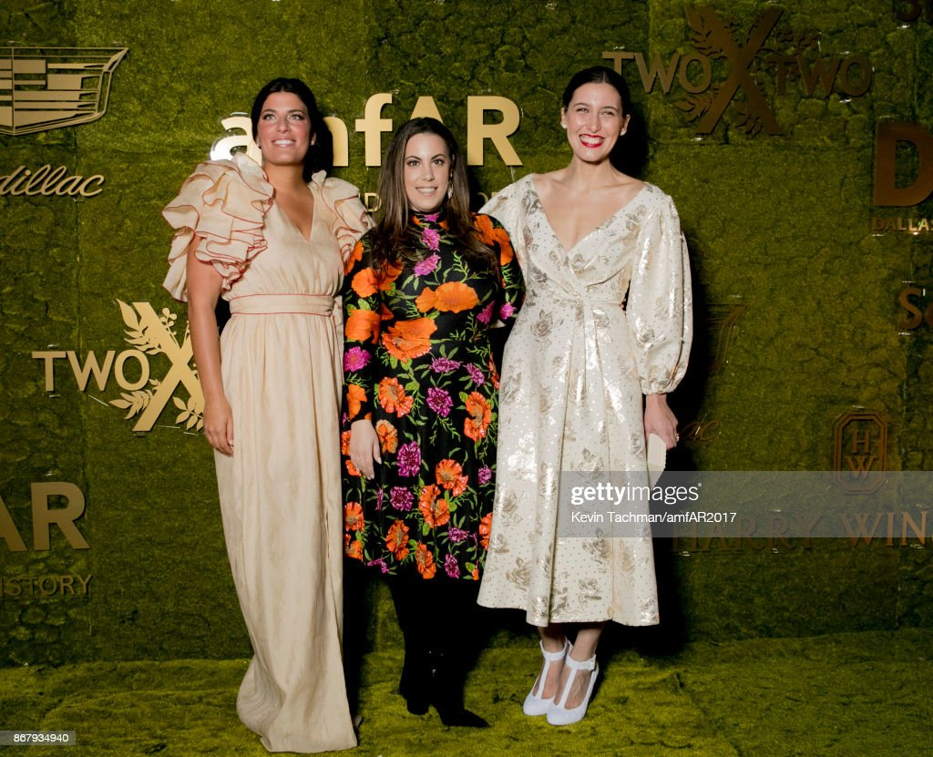 Rosie Assoulin, Mary Katrantzou and Emilia Wickstead at TWO X TWO for AIDS and Art 2017 at The Rachofsky House on October 28, 2017 in Dallas, Texas.