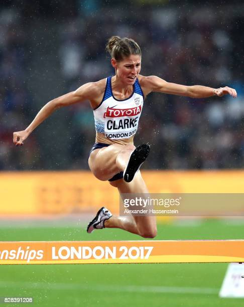Rosie Clarke of Great Britain competes in the Women's 3000 metres Steeplechase heats during day six of the 16th IAAF World Athletics Championships...