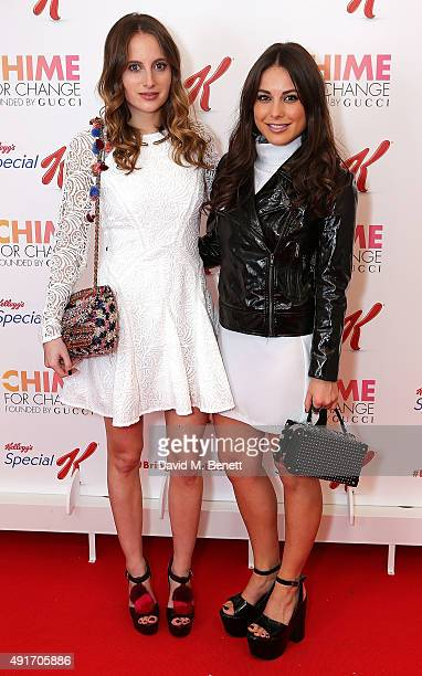 Rosie Fortescue and Louise Thompson attend the Special K Bring Colour Back launch at The Hospital Club on October 7 2015 in London England