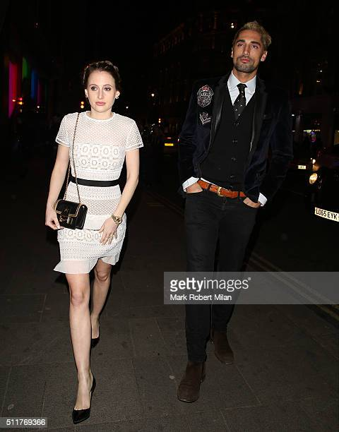 Rosie Fortescue and Oliver Proudlock attending the JF London a/w1617 presentation and party at the W hotel on February 22 2016 in London England