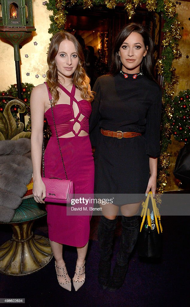 Rosie Fortescue (L) and Roxie Nafousi attend the WhoWhatWear UK Launch at Loulou's on November 24, 2015 in London, England.