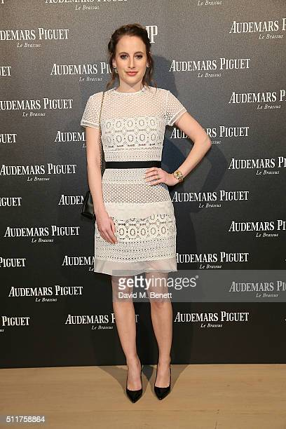 Rosie Fortescue attends as Audemars Piguet launch the Royal Oak Yellow Gold collection at Phillips Gallery on February 22 2016 in London England