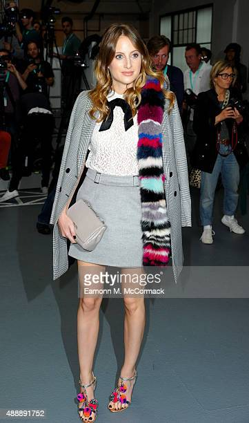 Rosie Fortescue attends the Bora Aksu show during London Fashion Week Spring/Summer 2016 on September 18, 2015 in London, England.