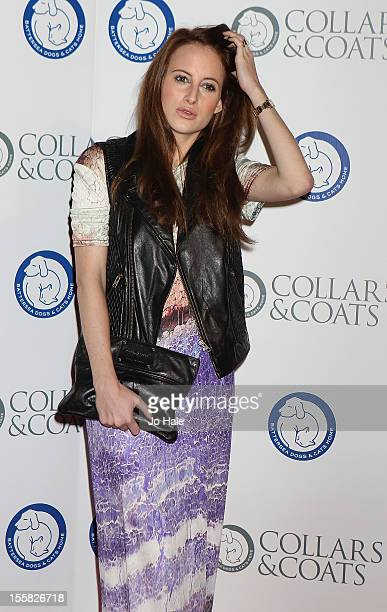 Rosie Fortescue attends the Collars Coats Gala Ball at Battersea Evolution on November 8 2012 in London England