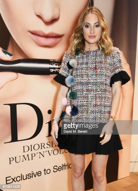 Rosie Fortescue attends the launch of the Dior Pump 'N' Volume Mascara with Dior spokesmodel Bella Hadid at Selfridges on April 20 2017 in London...