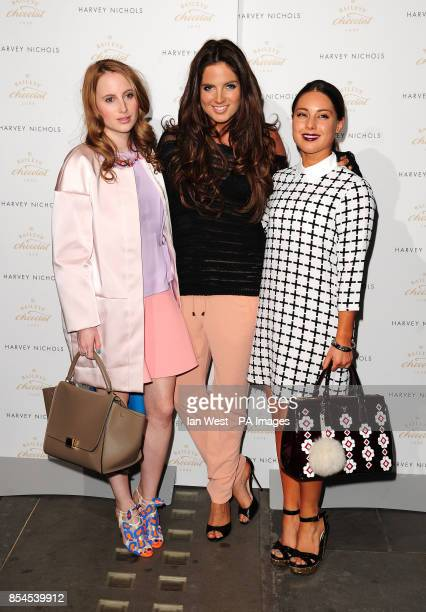 Rosie Fortescue Binky Felstead and Louise Thompson attending the Baileys Feaster Egg Hunt at Harvey Nichols in London