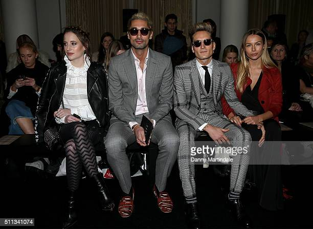 Rosie Fortescue Hugo Taylor Oliver Proudlock and Emma Louise Connolly attends the DAKS show during London Fashion Week Autumn/Winter 2016/17 at on...