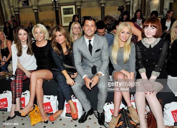 Rosie Fortescue Lydia Bright Zoe Hardman Mark Wright Jorgie Porter and Alice Levine sit in the front row at The LOOK Show in association with...