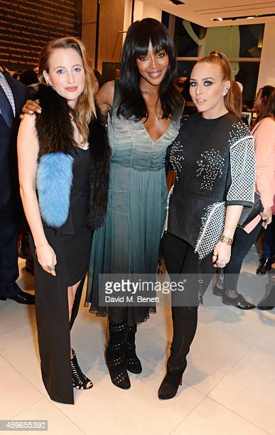 Rosie Fortescue Naomi Campbell and Chloe Green attend as Naomi Campbell launches the Fashion For Relief PopUp at The Village Westfield London on...