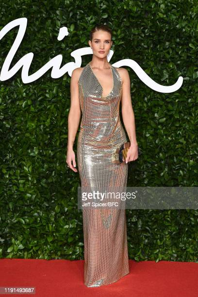 Rosie Hungtington Whiteley arrives at The Fashion Awards 2019 held at Royal Albert Hall on December 02 2019 in London England