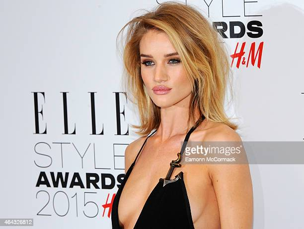 Rosie HuntingdonWhiteley attends the Elle Style Awards 2015 at Sky Garden @ The Walkie Talkie Tower on February 24 2015 in London England