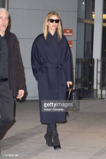 Rosie Huntington seen at JFK airport on February 5 2019 in New York City