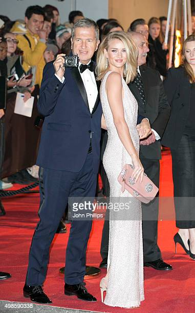 Rosie Huntington Whiteley and Mario Testino attends the British Fashion Awards 2015 at London Coliseum on November 23 2015 in London England