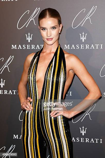 Rosie Huntington Whiteley attends CR Fashion Book Issue N°5 Launch Party as part of the Paris Fashion Week Womenswear Spring/Summer 2015 on September...