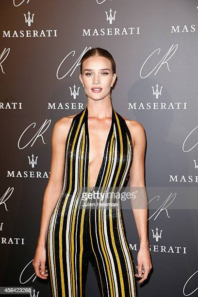 Rosie Huntington Whiteley attends the CR Fashion Book Issue N°5 launch party as part of the Paris Fashion Week Womenswear Spring/Summer 2015 on...