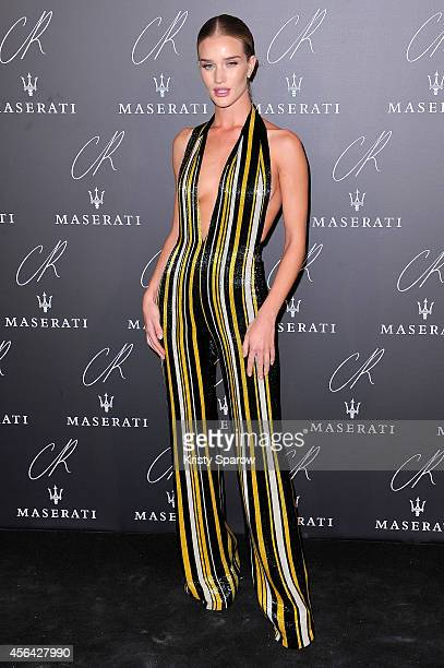 Rosie Huntington Whiteley attends the CR Fashion Book Issue No5 Launch Party hosted by Carine Roitfeld and Stephen Gan at The Peninsula Paris on...