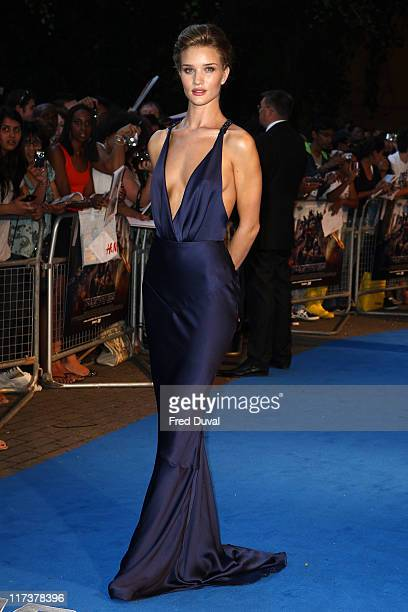 Rosie Huntington Whiteley attends the UK premiere of 'Transformers Dark Of The Moon' at BFI IMAX on June 26 2011 in London England