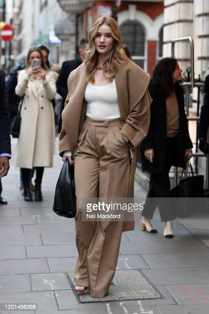 Rosie Huntington Whiteley seen leaving The Edition Hotel on January 23 2020 in London England