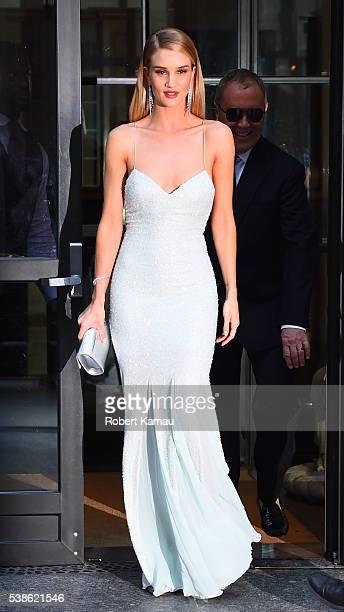 Rosie Huntington-Whiteley and designer, Michael Kors seen before attending the 2016 CFDA Awards on June 6, 2016 in New York City.