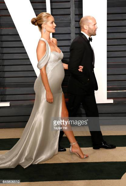 Rosie HuntingtonWhiteley and Jason Statham attend 2017 Vanity Fair Oscar Party Hosted By Graydon Carter at Wallis Annenberg Center for the Performing...