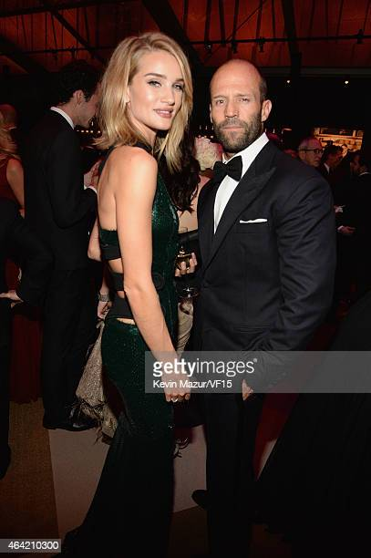 Rosie HuntingtonWhiteley and Jason Statham attend the 2015 Vanity Fair Oscar Party hosted by Graydon Carter at the Wallis Annenberg Center for the...
