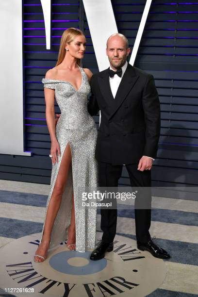 Rosie HuntingtonWhiteley and Jason Statham attend the 2019 Vanity Fair Oscar Party hosted by Radhika Jones at Wallis Annenberg Center for the...