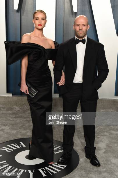 Rosie Huntington-Whiteley and Jason Statham attend the 2020 Vanity Fair Oscar Party hosted by Radhika Jones at Wallis Annenberg Center for the...
