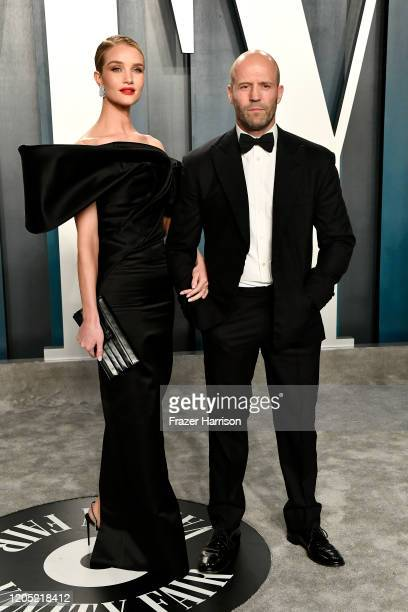 Rosie HuntingtonWhiteley and Jason Statham attend the 2020 Vanity Fair Oscar Party hosted by Radhika Jones at Wallis Annenberg Center for the...