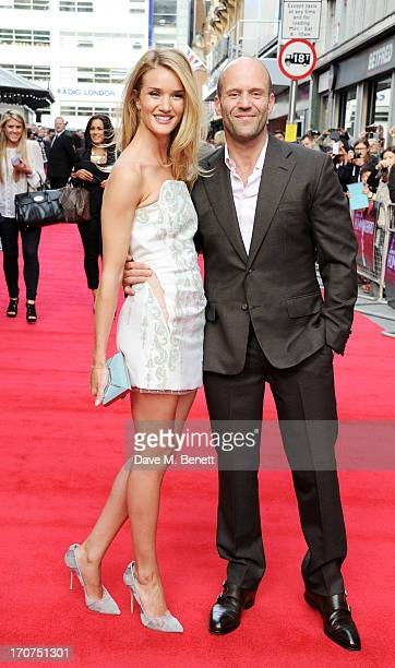 Rosie HuntingtonWhiteley and Jason Statham attend the UK Premiere of 'Hummingbird' at Odeon West End on June 17 2013 in London England