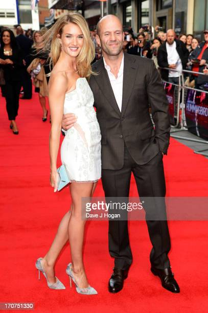 Rosie HuntingtonWhiteley and Jason Statham attend the UK premiere of 'Hummingbird' at The Odeon West End on June 17 2013 in London England