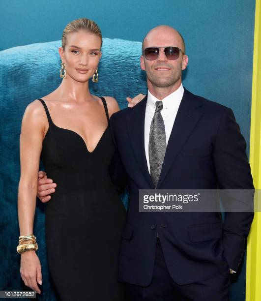 Rosie HuntingtonWhiteley and Jason Statham attend Warner Bros Pictures And Gravity Pictures' Premiere of 'The Meg' at TCL Chinese Theatre IMAX on...