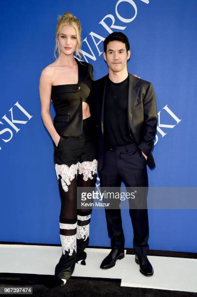 Rosie Huntington-Whiteley and Joseph Altuzarra attend the 2018 CFDA Fashion Awards at Brooklyn Museum on June 4, 2018 in New York City.