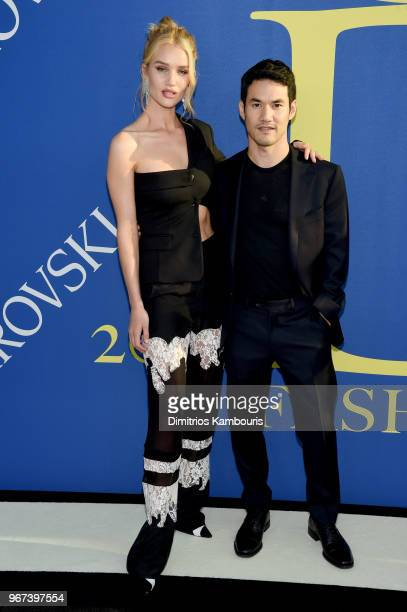 Rosie HuntingtonWhiteley and Joseph Altuzarra attend the 2018 CFDA Fashion Awards at Brooklyn Museum on June 4 2018 in New York City