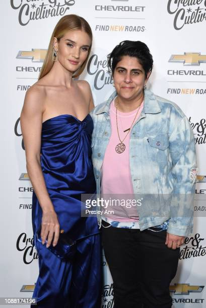 Rosie HuntingtonWhiteley and Moj Mahdara attend the Create Cultivate And Chevrolet Launch Event For The Create Cultivate 100 List on January 24 2019...
