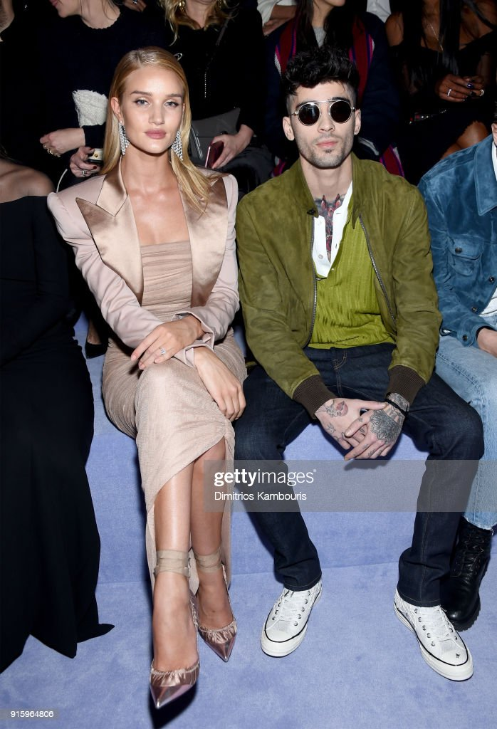 Rosie Huntington-Whiteley and Zayn Malik attend the Tom Ford Fall/Winter 2018 Women's Runway Show at the Park Avenue Armory on February 8, 2018 in New York City.