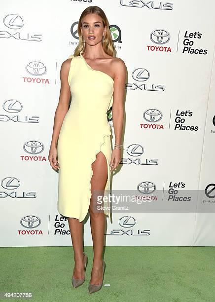 Rosie HuntingtonWhiteley arrives at the 25th Environmental Media Awards at Warner Bros Studios on October 24 2015 in Burbank California