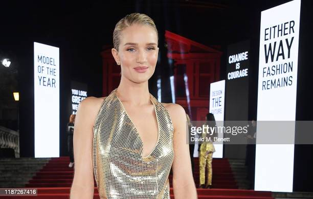 Rosie HuntingtonWhiteley arrives at The Fashion Awards 2019 held at Royal Albert Hall on December 2 2019 in London England